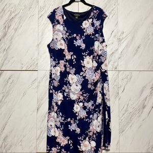 3/$60 Connected Apparel Floral Sleeveless Dres 20W